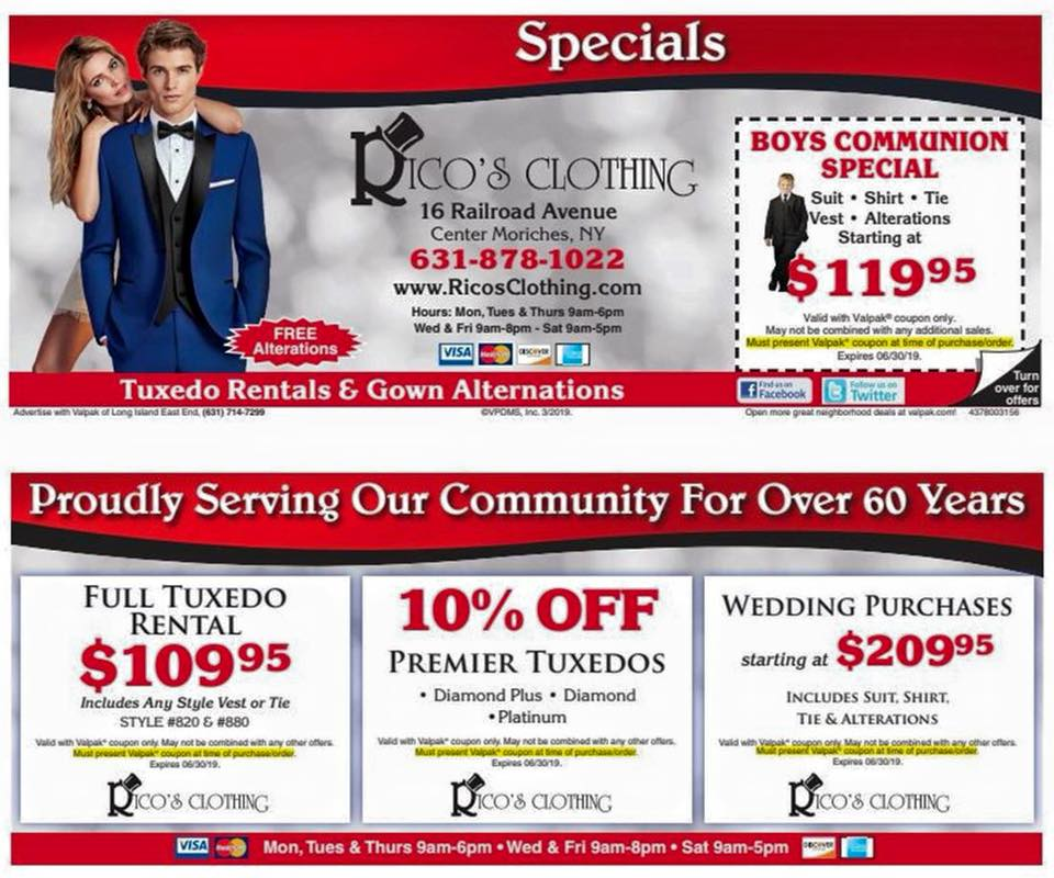 Rico's Clothing Store Specials « Rico's Clothing